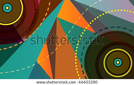 Music plate. Abstract vector illustration - stock vector