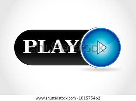 music play button for web - stock vector