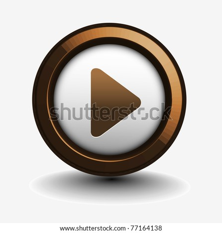 music play icon for web design element. - stock vector