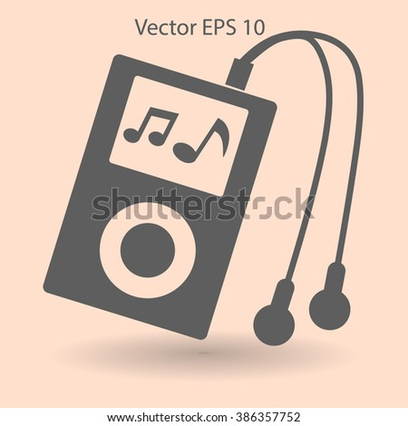 Music player with headphones picture