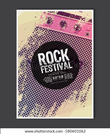 Music Poster Template Vector Flyer Background Stock Vector