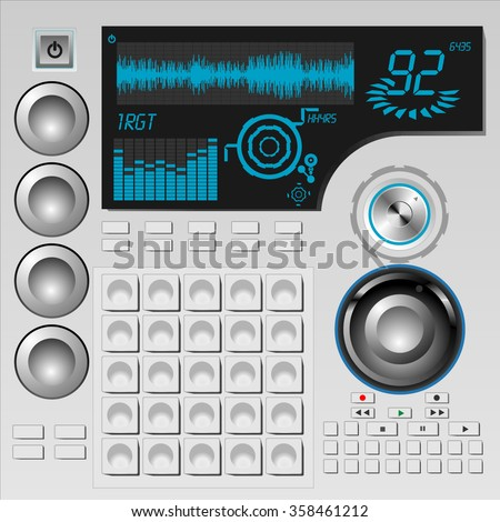 Music Production Controller - stock vector