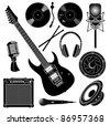 Music Recording Set - stock vector