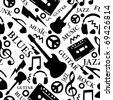 music seamless pattern - stock