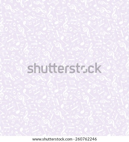 Music. Seamless Pattern. Vector background. - stock vector