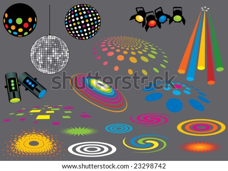Music set 7 (visit our portfolio for more design elements and music vectors) - stock vector