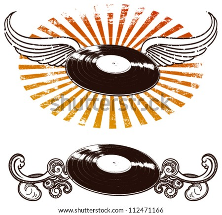 music shields - stock vector