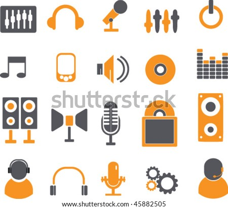 music signs. vector - stock vector