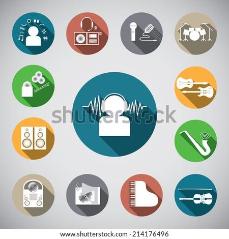 music spot icon - stock vector