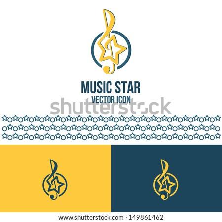 Music star (logo idea) - stock vector