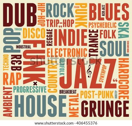 popular music genres 2017