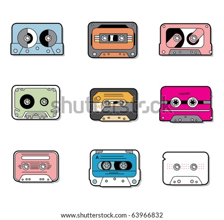 music Tapes - stock vector