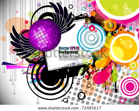 Music Theme Star Background With Circles And Splash Editable Illustration