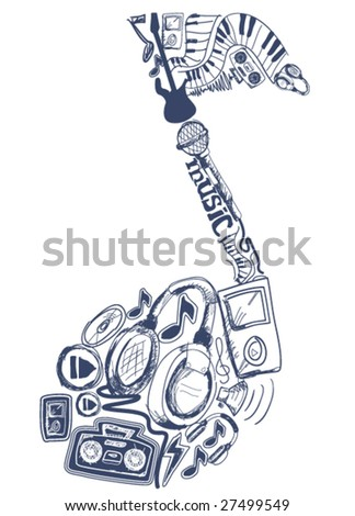Music - Vector - stock vector