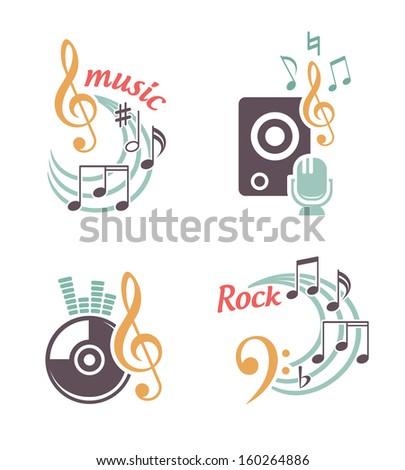 Music vector elements - stock vector