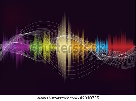 music wave - stock vector