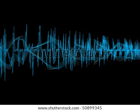 Music waves. Vector illustration - stock vector