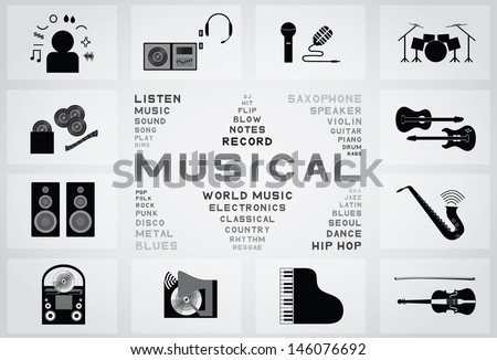 musical - stock vector