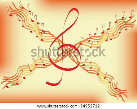 musical abstract background. vector