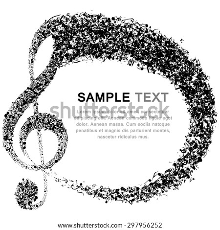Musical background. EPS 10 vector illustration without transparency. - stock vector