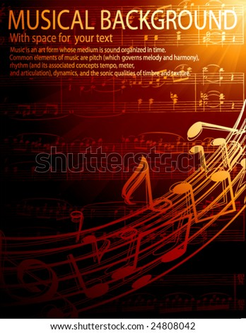 musical background -vector illustration