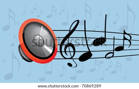 musical background -vector illustration - stock vector