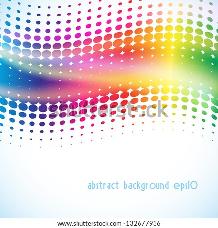 musical background with halftone as equalizer - stock vector