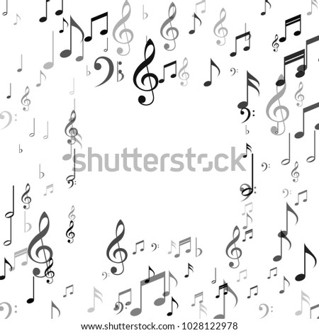 Musical Background Note Signs Symbols Music Stock Photo Photo