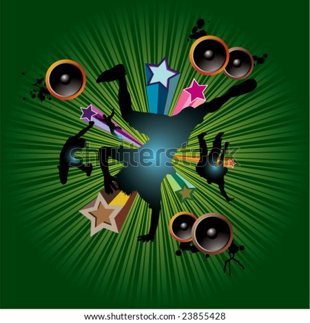 musical dance! - stock vector