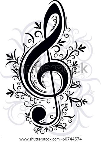 Musical decor - stock vector