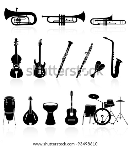 musical instrument icons,easy to edit or re size - stock vector
