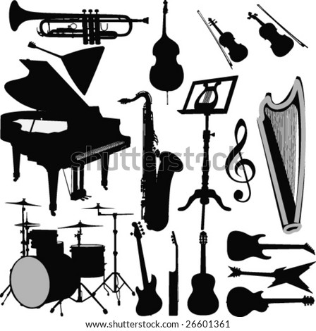 Musical instruments-vector - stock vector