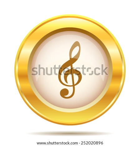 Musical note icon. Internet button on white background. EPS10 vector.  - stock vector