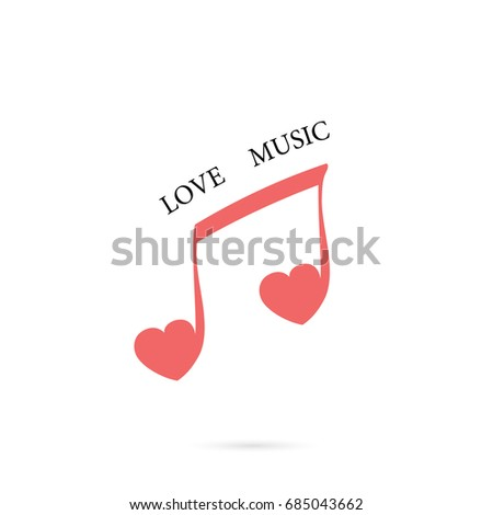 Set Music Notes Abstract Musical Background Stock Vector