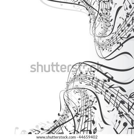 Musical notes composition - SIMILAR MUSIC BACKGROUNDS SEE AT MY GALLERY - stock vector