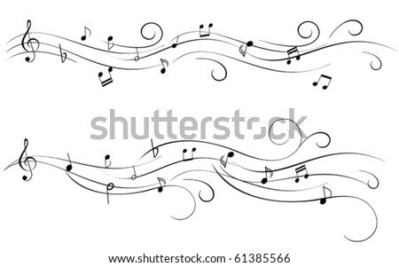 Musical notes for sheet music - stock vector