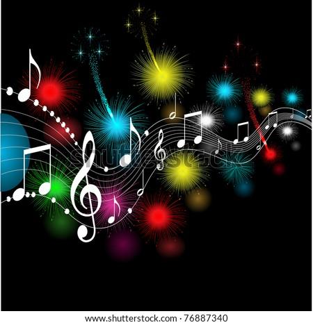 musical notes ,vector - stock vector
