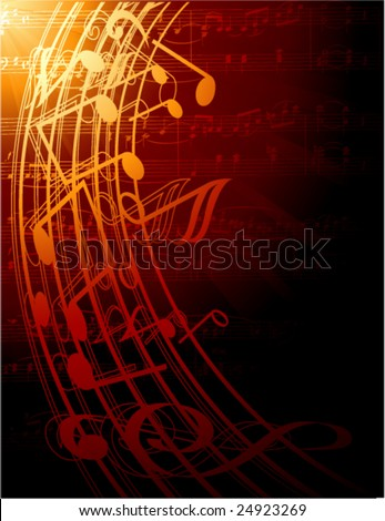 musical notes -vector illustration - stock vector