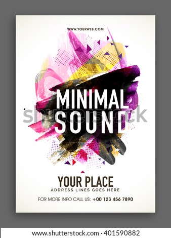 Musical Party Template, Banner or Flyer design with colorful abstract design decoration. - stock vector
