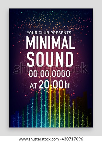 Musical Party Template, Dance Party Flyer, Night Party Banner or Club Invitation design, Creative background with shiny abstract background. - stock vector