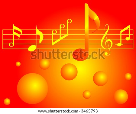 musical symbols - stock vector