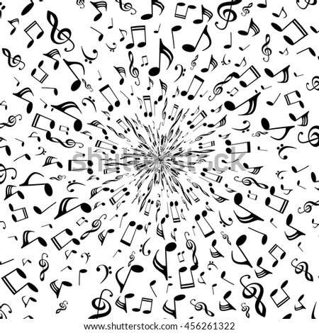 Musical Symbols Musical Notes Treble Clef Stock Vector 456261322