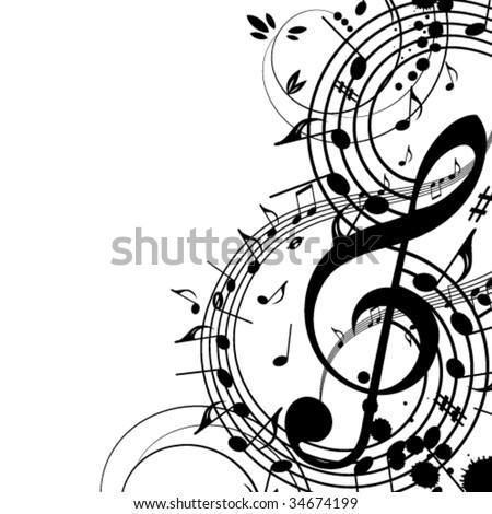 Musical theme - stock vector