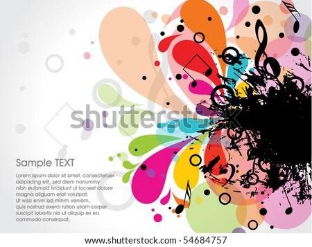 musical theme background with sample text,vector Illustration - stock vector