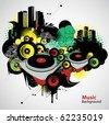 Musical  urban vector - stock vector