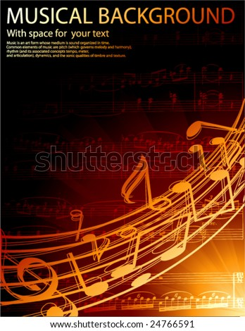 musical vector background