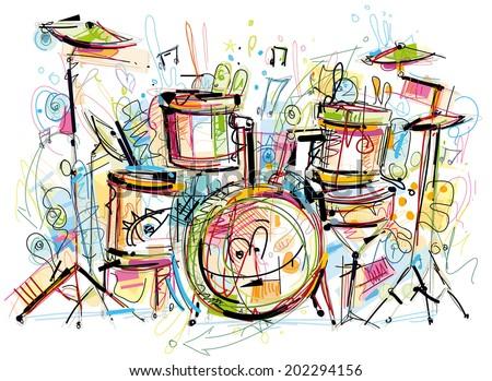Musician Equipment - stock vector