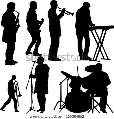 musicians collection - vector - stock vector