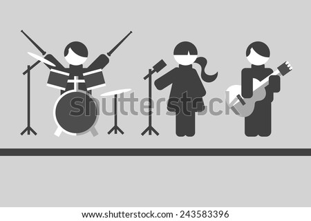 musicians flat design - stock vector