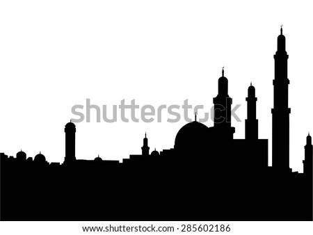 Muslim city - stock vector